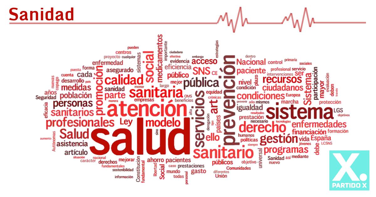 Programa sobre sanidad del Partido X a partir de propuestas programáticas de la sociedad civil
