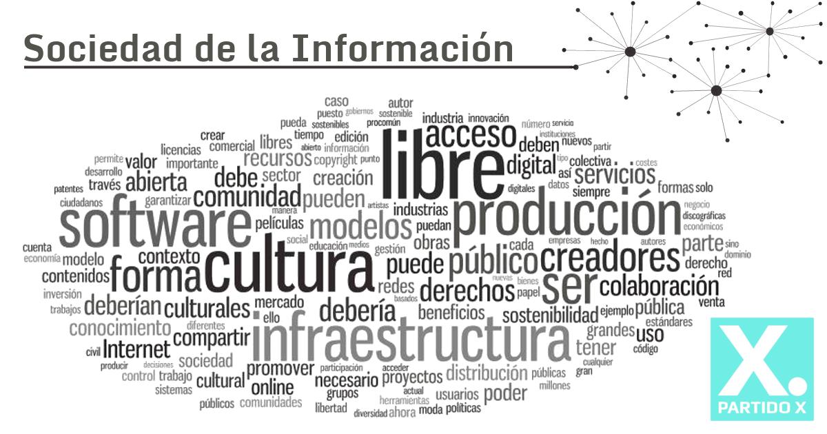 Programa sobre sociedad de la información del Partido X a partir de propuestas programáticas de la sociedad civil