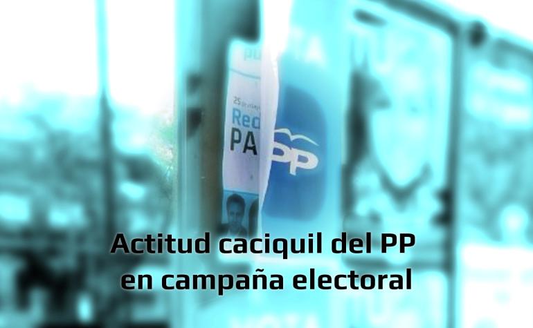 El Partido X denuncian actitud caciquil del PP en Campaña Electoral