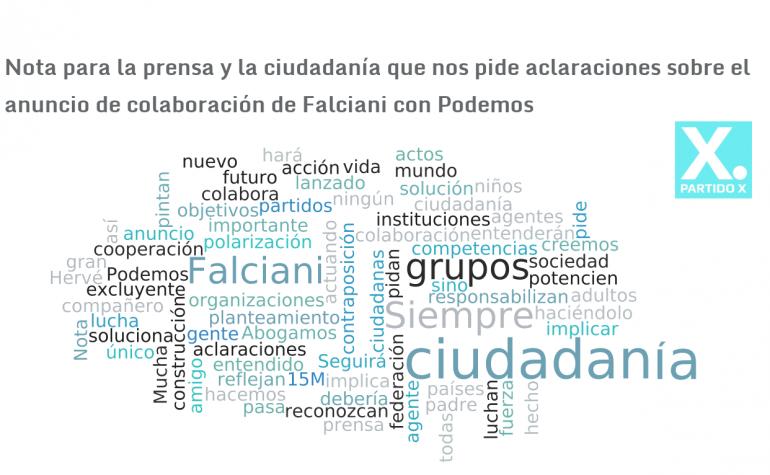 Nota para la prensa y la ciudadanía que nos pide aclaraciones sobre el anuncio de colaboración de Falciani con Podemos